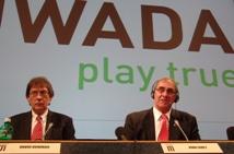 David Howman & John Fahey, am 27. Februar 2008 auf dem WADA-Symposium in Lausanne