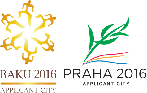 2016 Applicant City Logos 'Baku 2016' & und 'Prag 2016'