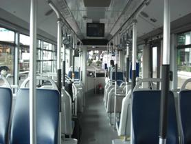 Leerer Bus von Innen