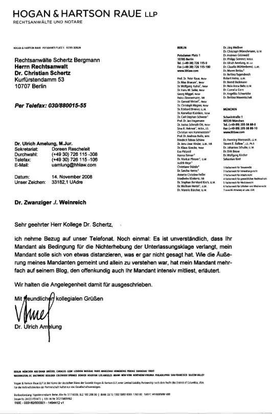 """Briefe Schreiben Wie Ein Anwalt : """"dfb missbilligt diffamierung von dr theo zwanziger"""