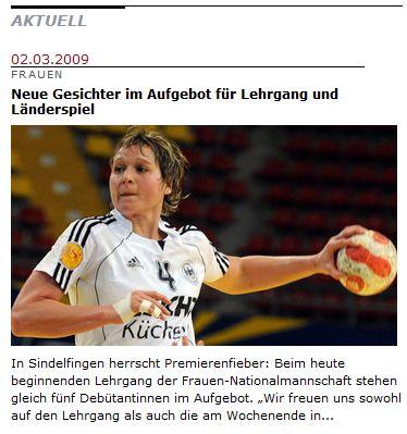 """DHB-News: """"Neue Gesichter im Aufgebot für Lehrgang und Länderspiel"""""""