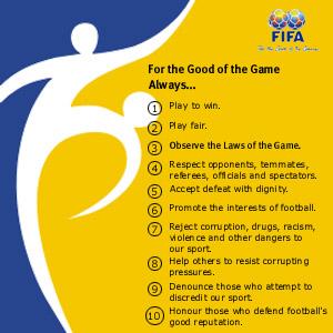 Die Zehn Gebote der FIFA