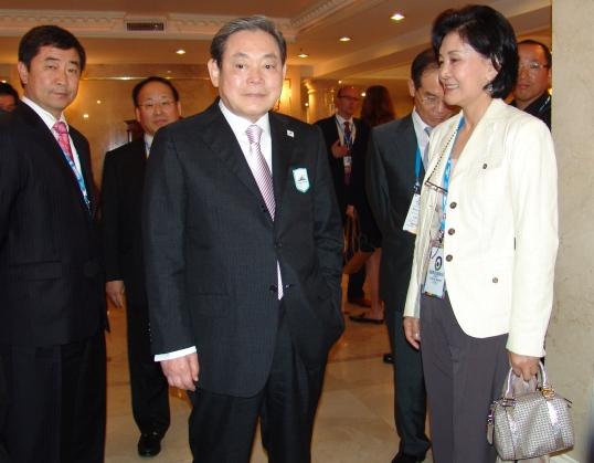 Ex-Samsung-Chairman Kun Hee Lee mit Gattin