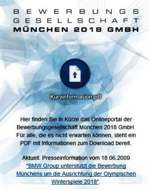 Screenshot muenchen2018.org