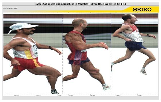 IAAF Zielfoto 50 km Gehen