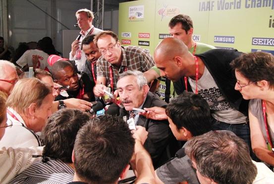 PK mit Pierre Weiss, GS der IAAF