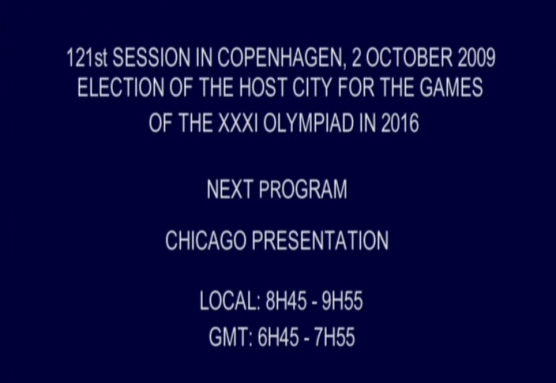 Next program: Chicago Presentation