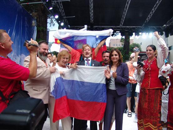 Pluschenko & Co feiern auf der Eisbahn in Guatemala