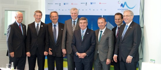 Gruppenbild mit Herren: Bogner, Ude, Seehofer, Bach, Hörmann, Vesper