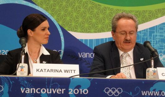 Katarina Witt, Christian Ude auf der PK in Vancouver