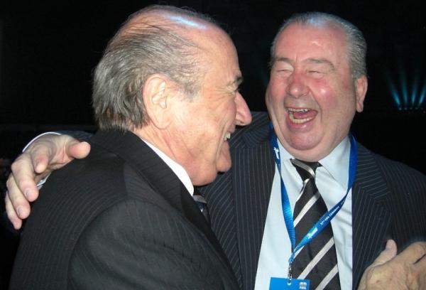 FIFA-Präsident Joseph Blatter, FIFA Senior Vice President Don Julio Grondona