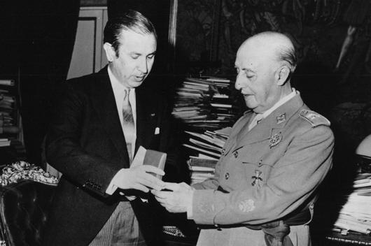 Juan Antonio Samaranch, Francisco Franco