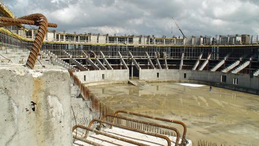 Baustelle Eisstadion, Sotschi