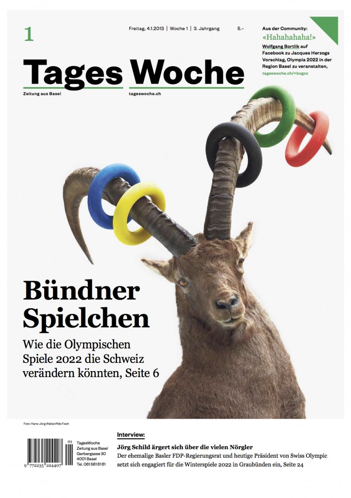 Cover Tageswoche 1.2013