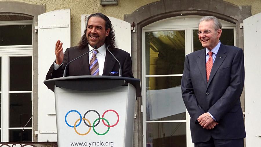 Gartenparty beim IOC, Juni 2013: Scheich Ahmad, President Jacques (so nennt Ahmad den IOC-Boss Rogge)