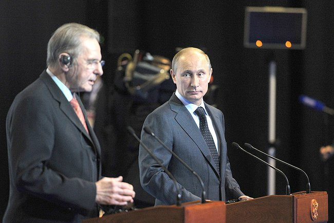 Jacques Rogge, Wladimir Putin, St. Petersburg 2013 (c) Kremlin, Office of the Russian President