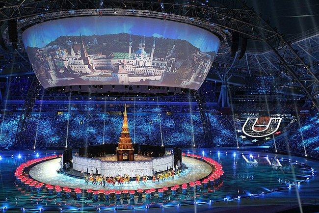 Opening Ceremony Universiade 2013, Kazan (c) Kremlin, Office of the Russian President