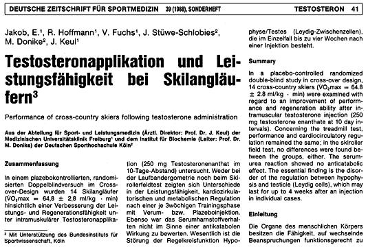 Deutsche Zeitschrift für Sportmedizin 39 (1988)