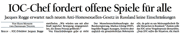 Tagesspiegel, S.1 18. August 2013