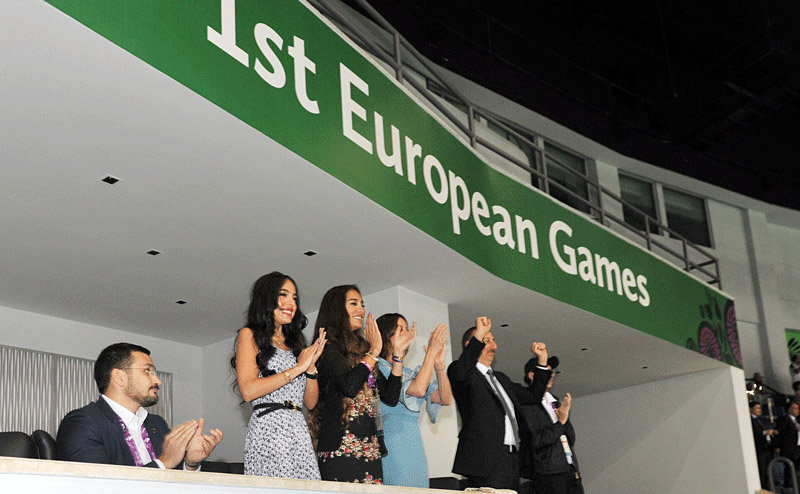 """Ehrenloge"" 1st European Games: arzu-leyla-mehriban"