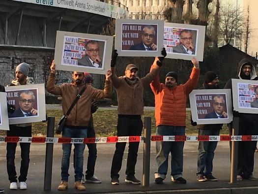 authentische Spontan-Demo für Scheich Salman