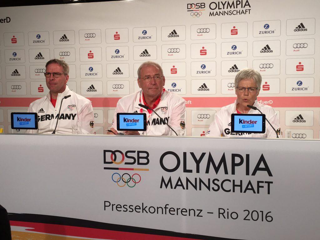 Rio 2016, DOSB-PK mit Dirk Schimmelpfennig, Michael Vesper und Ulrike Spitz