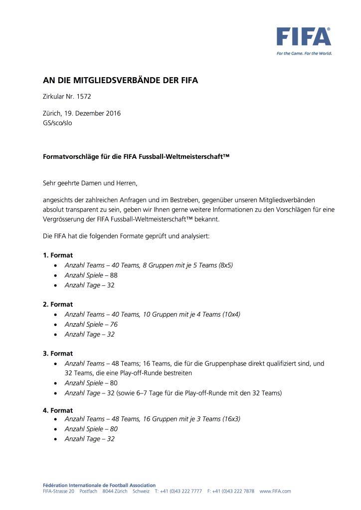 Zirkularschreiben 1572 an die 211 FIFA-Nationalverbände, S. 1